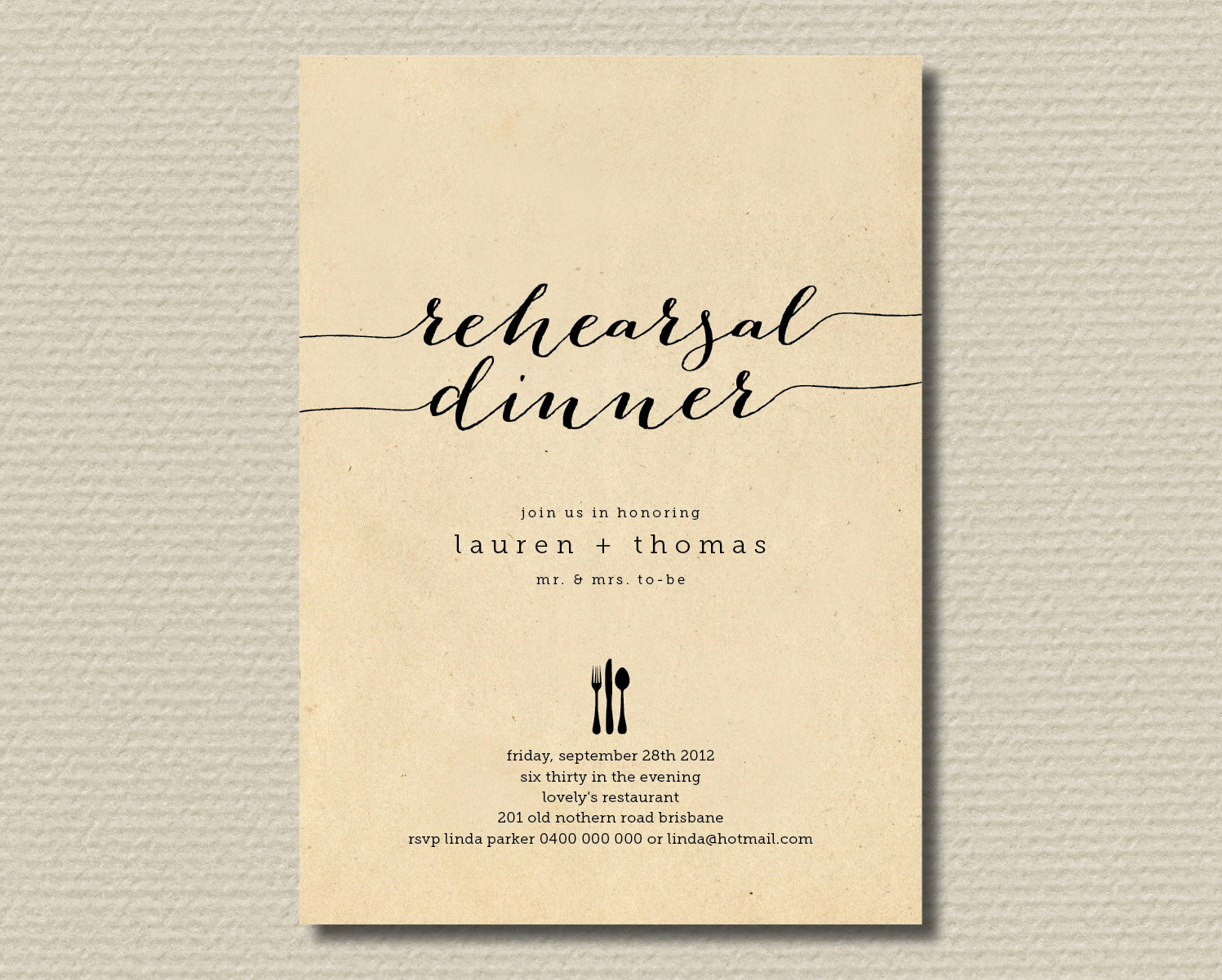 Rehearsal Dinner Invitation Wording New Printable Wedding Rehearsal Dinner Invitation by