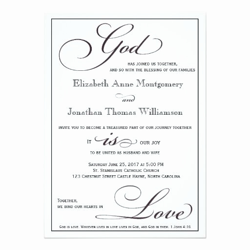 Religious Wedding Invitation Wording Beautiful 294 Best Christian Wedding Invitations Images On Pinterest