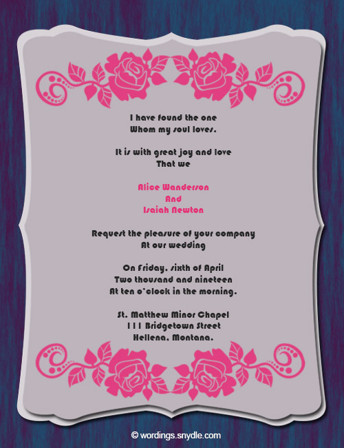 Religious Wedding Invitation Wording Best Of Christian Wedding Invitation Wording Samples Wordings