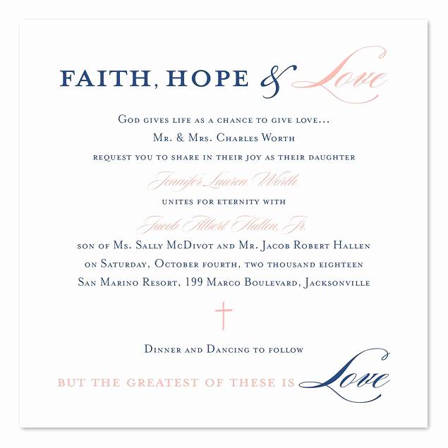 Religious Wedding Invitation Wording Elegant Graceful Type In 2019 Wedding Invites