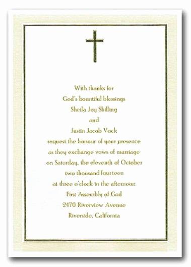 Religious Wedding Invitation Wording Lovely Christian Wedding Invitations Wording