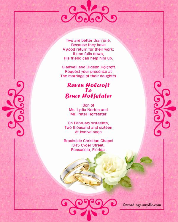 Religious Wedding Invitation Wording Luxury Christian Wedding Invitation Wording Samples Wordings
