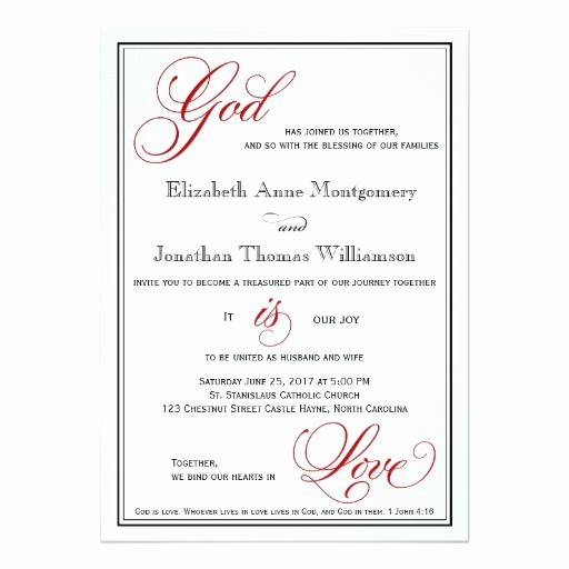 Religious Wedding Invitation Wording New 294 Best Christian Wedding Invitations Images On Pinterest
