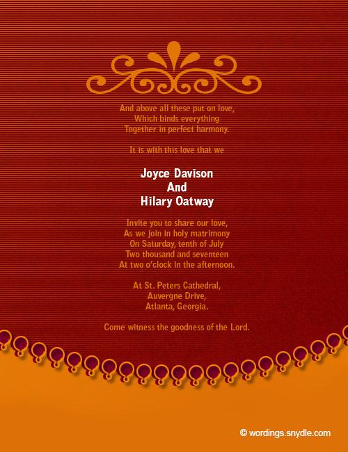 Religious Wedding Invitation Wording New Christian Wedding Invitation Wording Samples Wordings