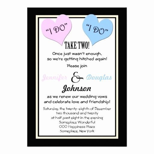 Renew Vows Invitation Wording Awesome Vow Renewal Invitation I Do Personalized Invite