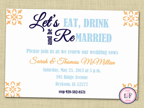 Renew Vows Invitation Wording Beautiful Items Similar to Vow Renewal Invitation Printable Vow