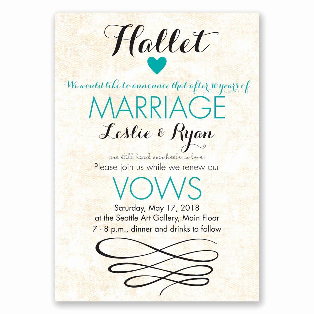 Renew Vows Invitation Wording Luxury Happy Heart Vow Renewal Invitation