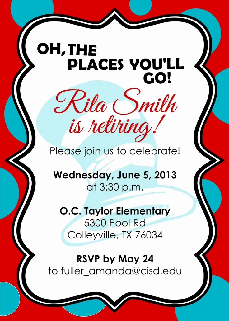 Retirement Invitation Template Free Best Of 10 Best Images About Retirement Invites On Pinterest
