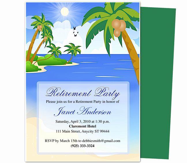 Retirement Invitation Template Free Fresh 7 Best Of Free Printable Retirement Party Program