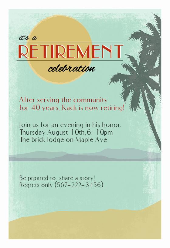 Retirement Invitation Template Free Fresh Its A Retirement Celebration Retirement & Farewell Party