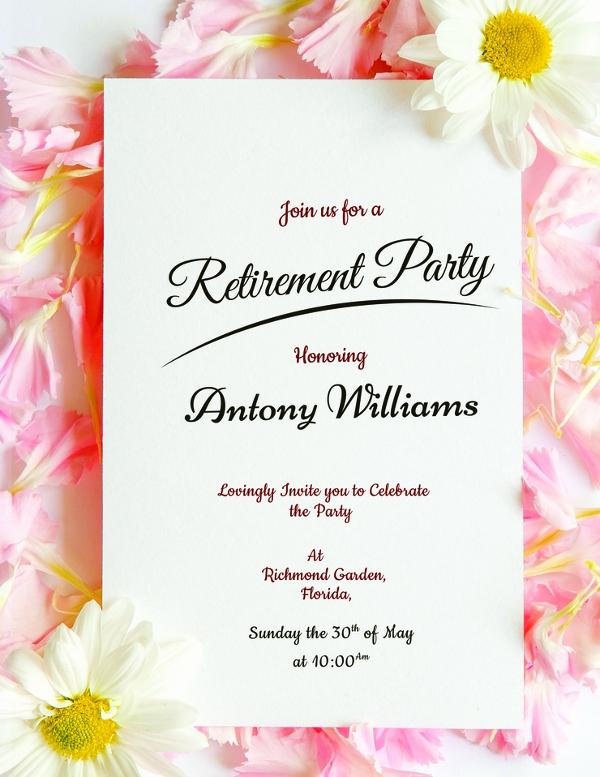 Retirement Invitation Template Free Inspirational 30 Retirement Party Invitation Design & Templates Psd
