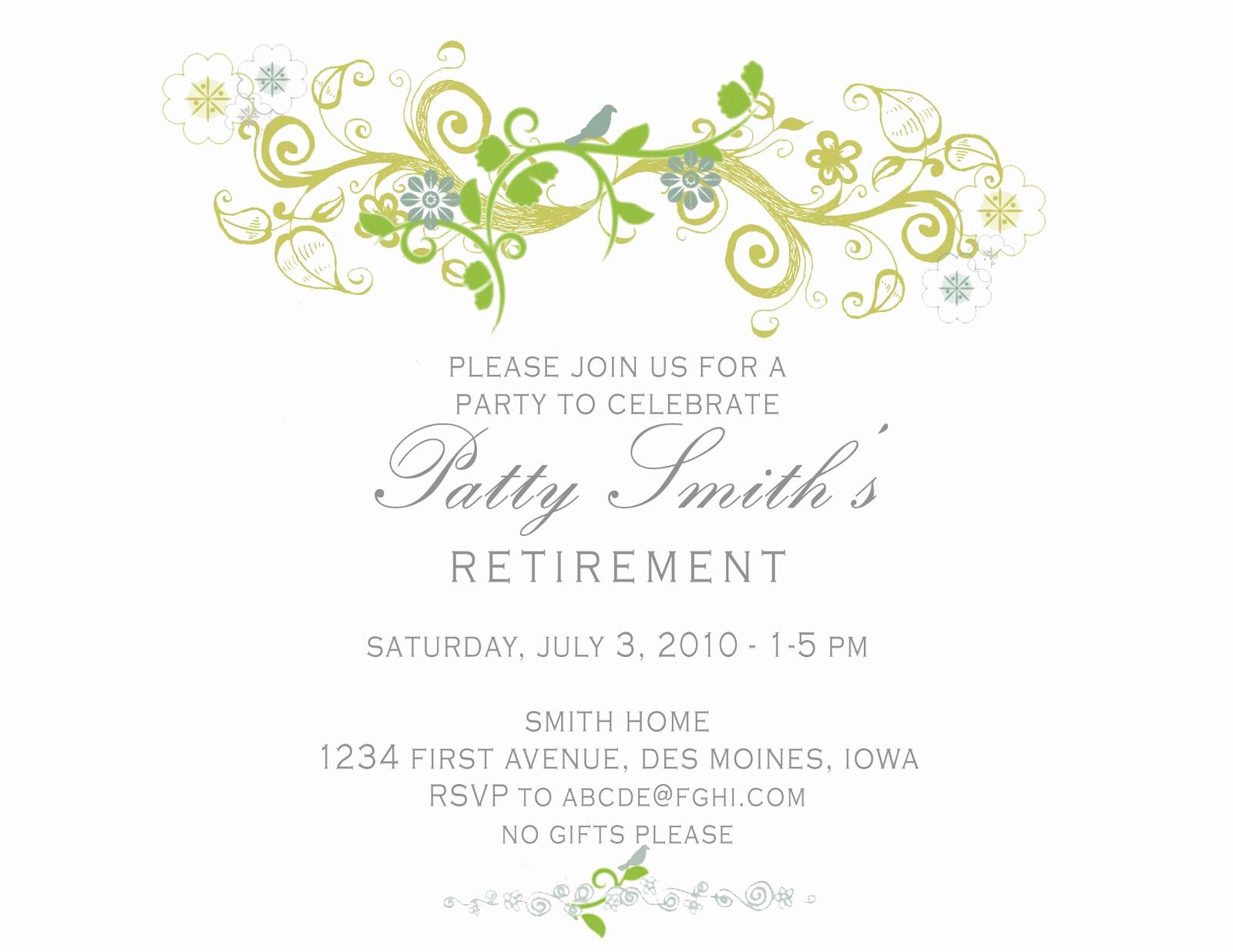 Retirement Invitation Template Free Inspirational Idesign A Retirement Party Invitation
