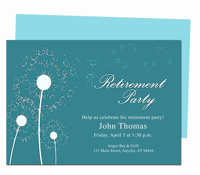 Retirement Invitation Template Free Inspirational Winds Retirement Party Invitation Templates Diy Printable