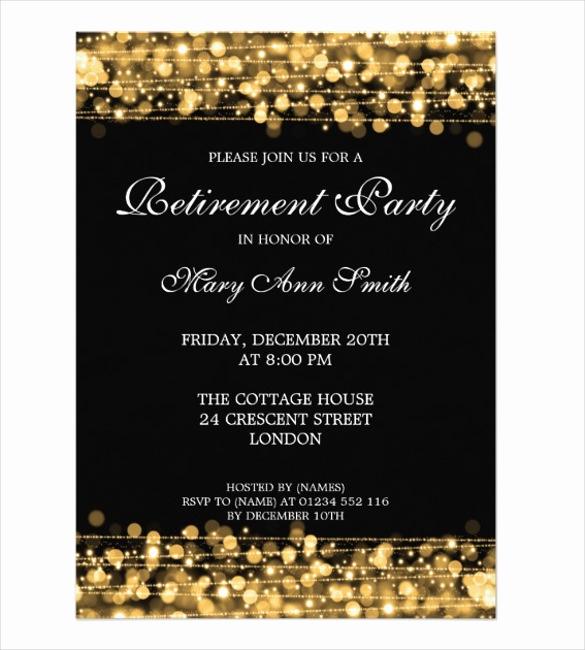 Retirement Invitation Template Free Luxury 36 Retirement Party Invitation Templates Psd Ai Word