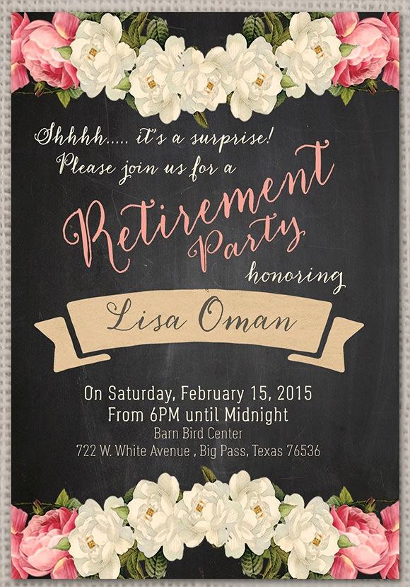 Retirement Invitation Template Free New Retirement Party Invitation 7 Premium Download