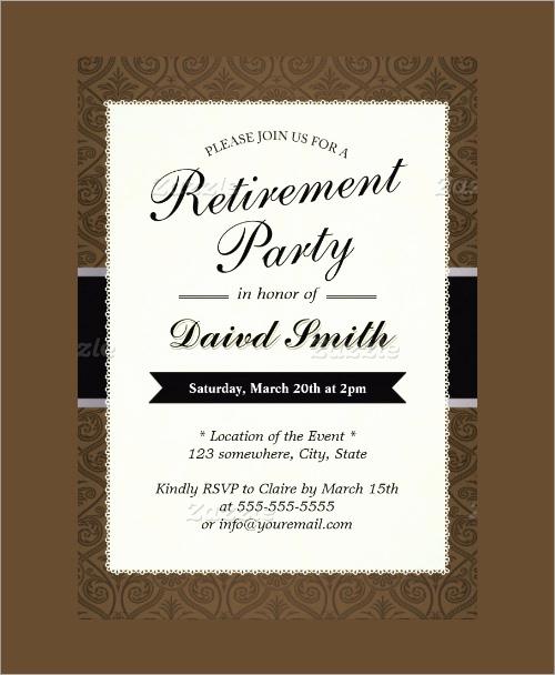 Retirement Invitation Template Free New Sample Invitation Template Download Premium and Free