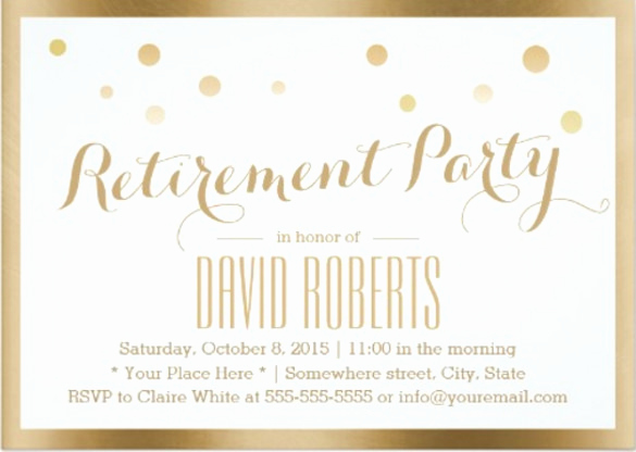Retirement Party Invitation Card Beautiful 30 Retirement Invitation Templates Psd Ai Word