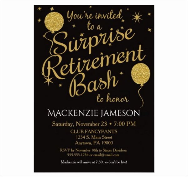 Retirement Party Invitation Card Beautiful 46 Printable Party Invitation Templates Psd Ai