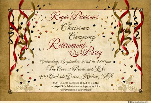Retirement Party Invitation Card Beautiful 81 Free Invitation Cards Psd Word Ai