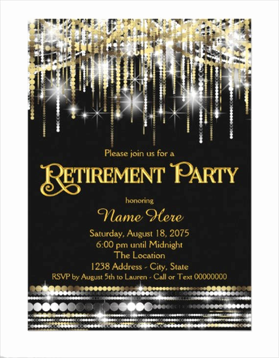 Retirement Party Invitation Card Elegant 78 Invitation Card Examples Word Psd Ai Word