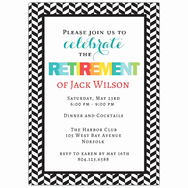Retirement Party Invitation Card Elegant Modern Colorful Retirement Party Invitations