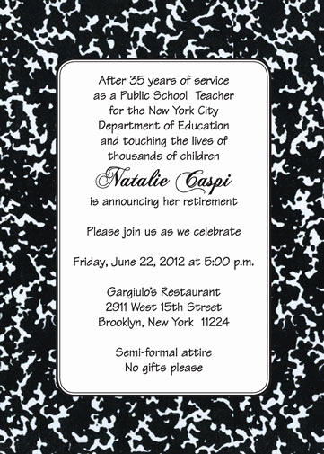 Retirement Party Invitation Card Luxury 25 Personalized Retirement Party Invitations Rpit 18