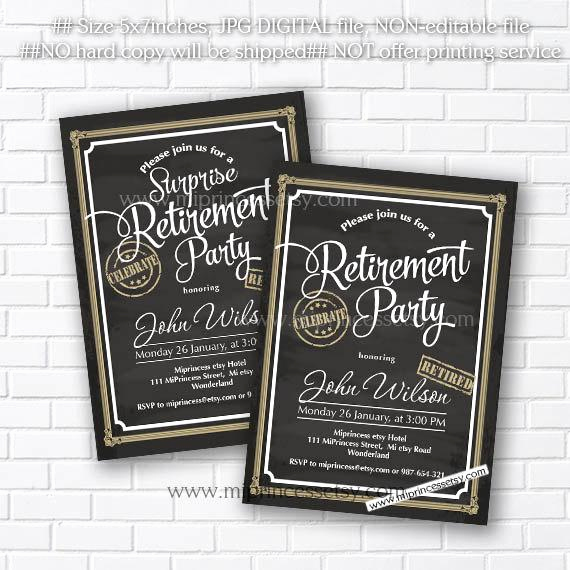 Retirement Party Invitation Card Luxury Retirement Invitations Retirement Party Invitation