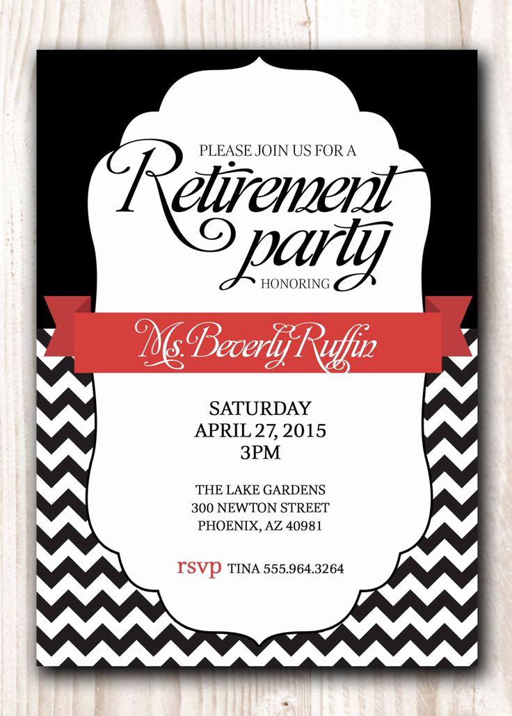 Retirement Party Invitation Ideas New Retirement Party Invitation Black with A touch Of Red or