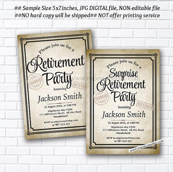 Retirement Party Invitation Ideas Unique 78 Best Ideas About Retirement Invitations On Pinterest