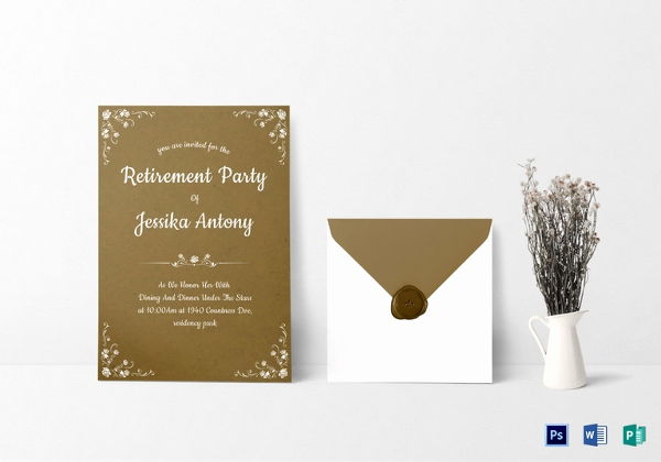 Retirement Party Invitation Template Best Of 30 Retirement Invitation Templates Psd Ai Word