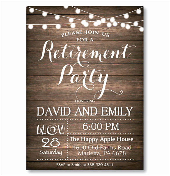 Retirement Party Invitation Template Best Of 36 Retirement Party Invitation Templates Psd Ai Word