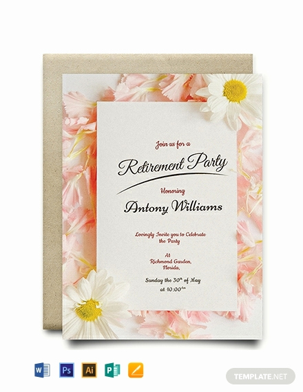 Retirement Party Invitation Template Elegant Free Printable Retirement Party Invitation Template
