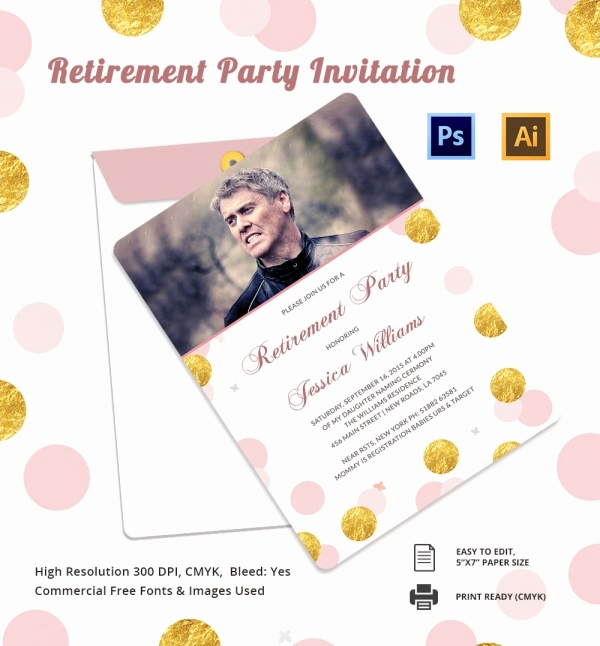 Retirement Party Invitation Template Free Beautiful Retirement Party Invitation Template 36 Free Psd format