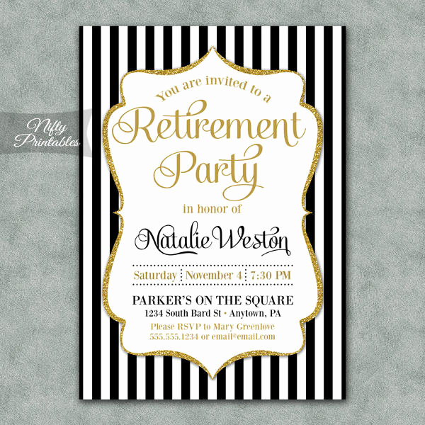 Retirement Party Invitation Template Free Elegant 13 Retirement Party Invitations Psd Ai