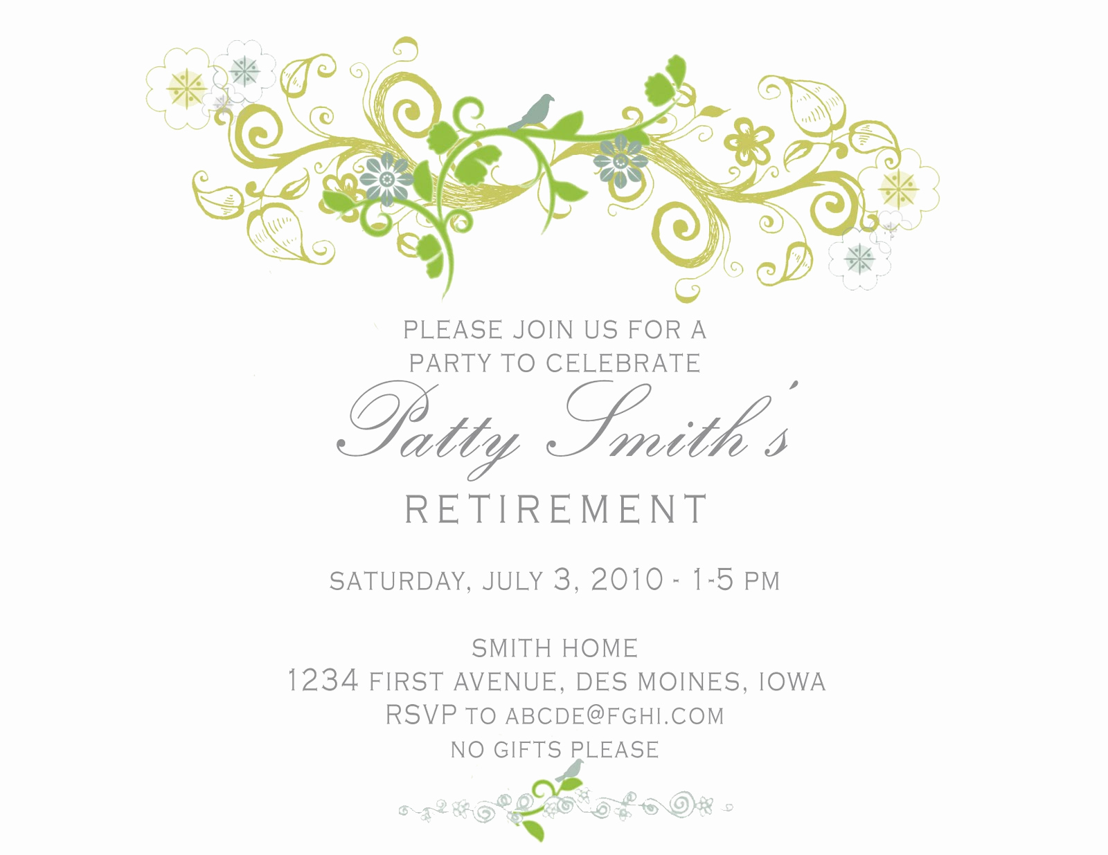 Retirement Party Invitation Template Free Elegant Idesign A Retirement Party Invitation