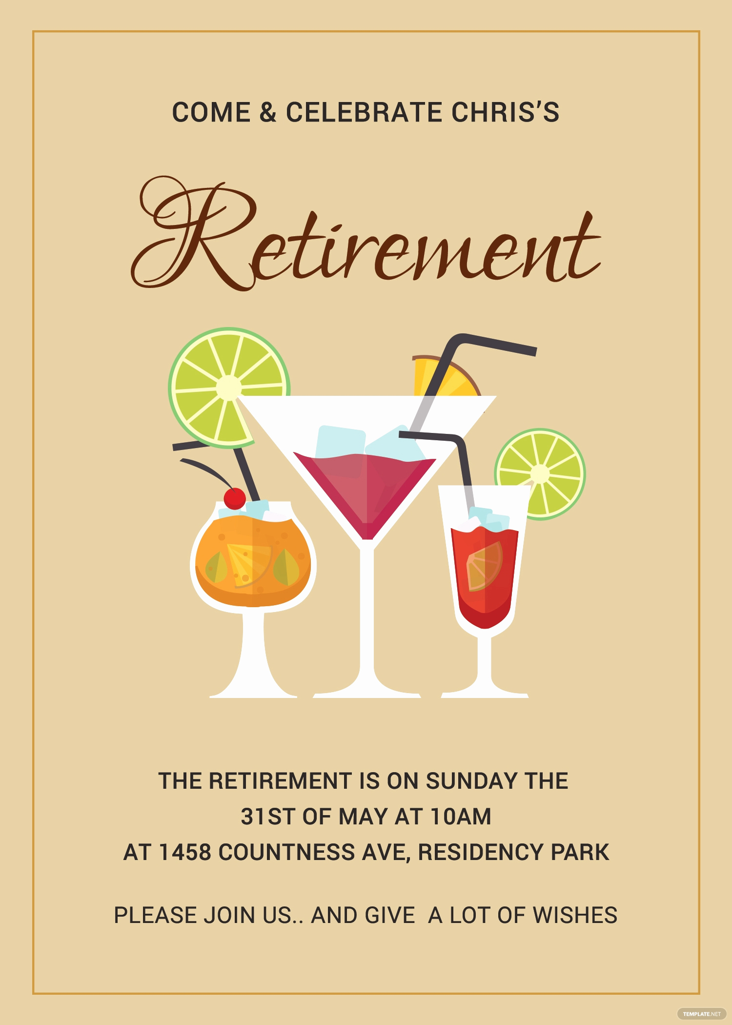 Retirement Party Invitation Template Free Fresh Printable Retirement Party Invitation Template In Adobe
