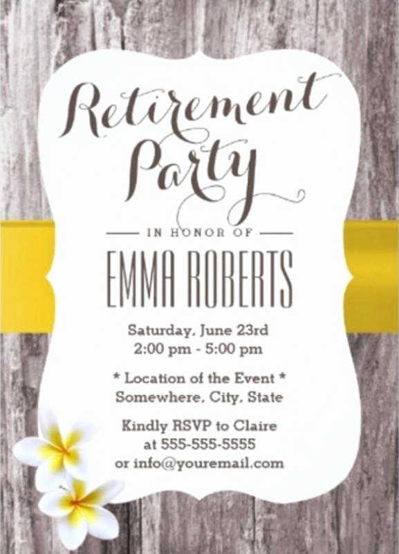 Retirement Party Invitation Template Free Inspirational Retirement Flyer Template