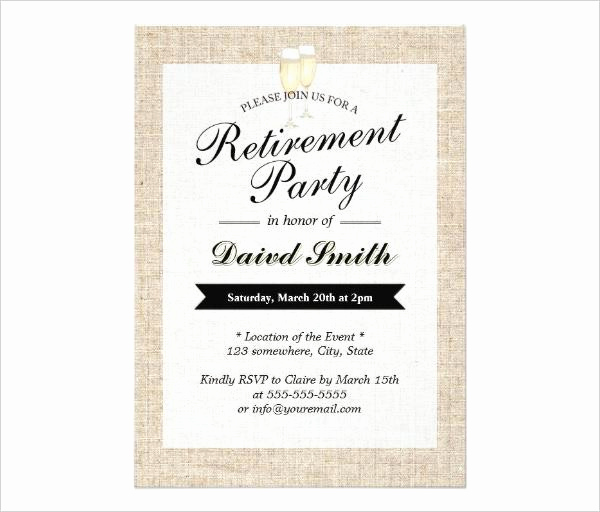 Retirement Party Invitation Template Free Lovely 36 Retirement Party Invitation Templates Free Download