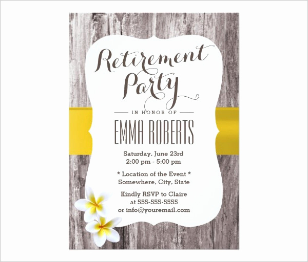 Retirement Party Invitation Template Free Lovely 55 Party Invitation Designs & Examples Psd Ai Eps