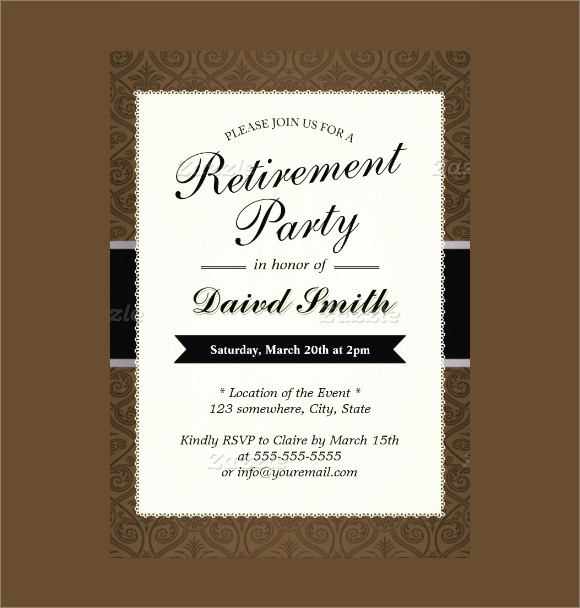 Retirement Party Invitation Template Free New Free 17 Retirement Party Invitations In Illustrator