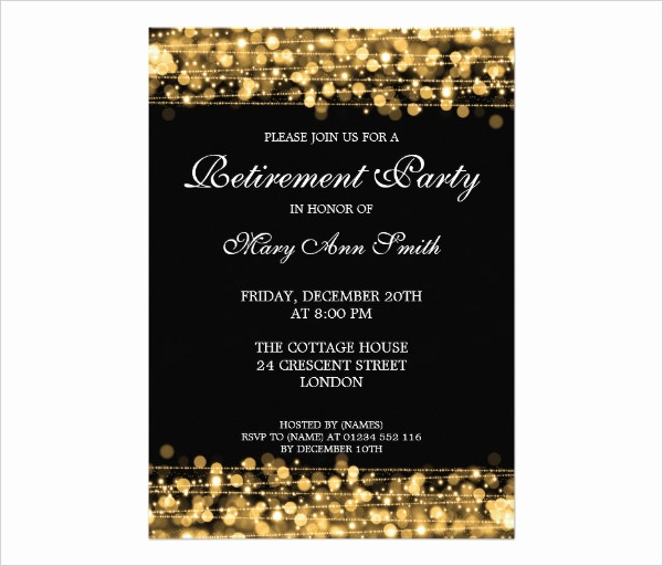 Retirement Party Invitation Template Free New Retirement Party Invitation Template 36 Free Psd format