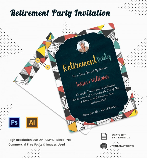 Retirement Party Invitation Template Free Unique Free 17 Retirement Party Invitations In Illustrator