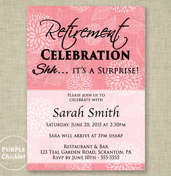 Retirement Party Invitation Template Free Unique Party Invitation Templates