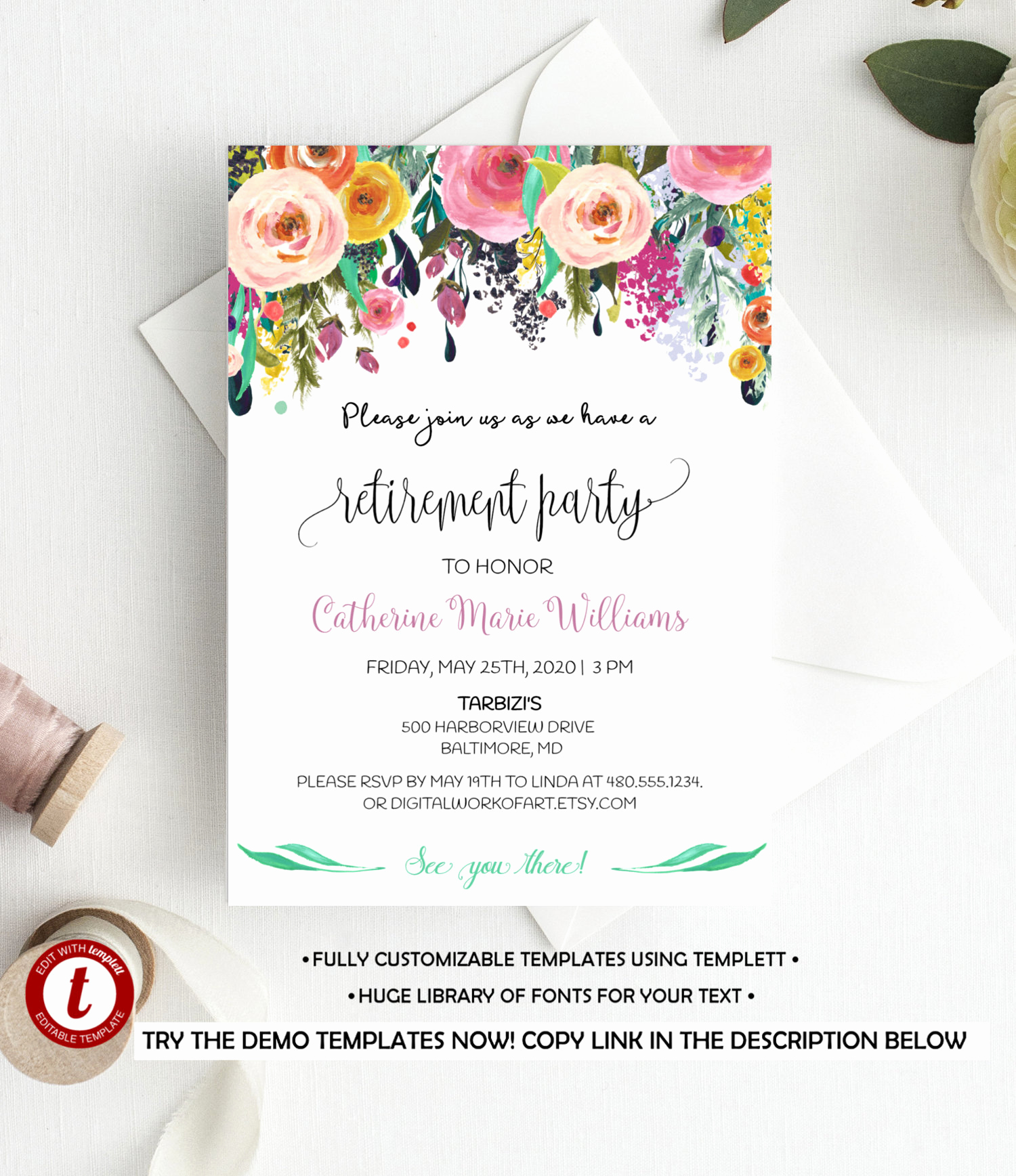 Retirement Party Invitation Template Fresh Fully Editable Retirement Party Invitation Template