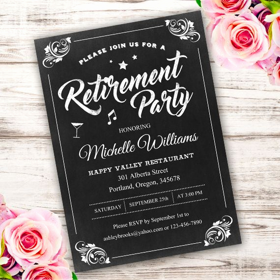 Retirement Party Invitation Template Inspirational Best 25 Retirement Invitations Ideas On Pinterest