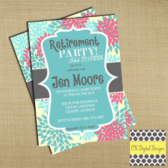 Retirement Party Invitation Template Inspirational Retirement Party Invitation Template – 36 Free Psd format