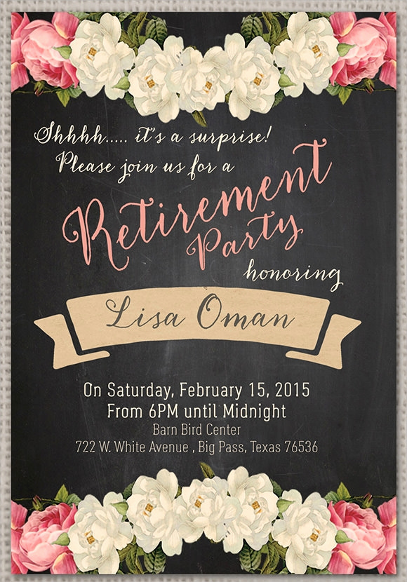 Retirement Party Invitation Template Lovely Retirement Party Invitation 7 Premium Download