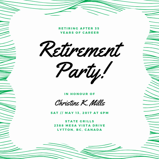 Retirement Party Invitation Template Luxury Customize 2 892 Retirement Party Invitation Templates
