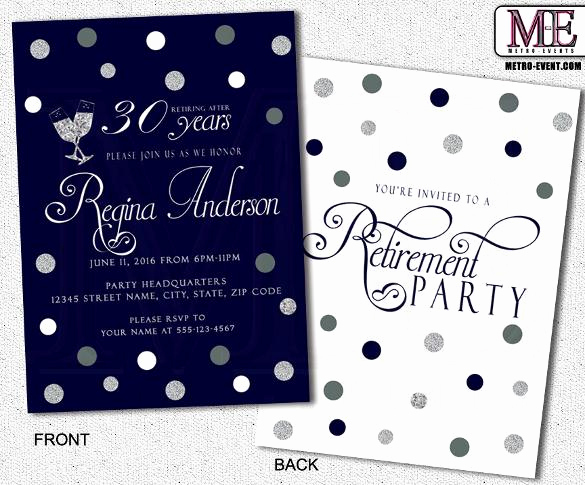 Retirement Party Invitation Template Unique 36 Retirement Party Invitation Templates Free Download