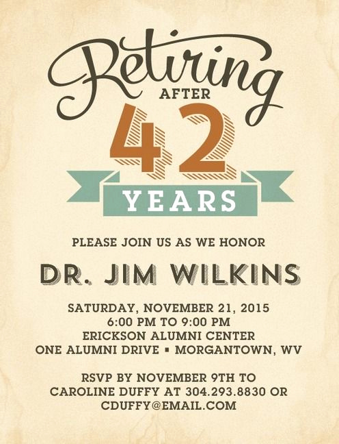 Retirement Party Invitation Templates Awesome Sample Retirement Party Flyers